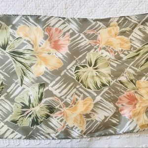 "🍀 Echo Silk Khaki/Peach 52"" x 10"" Rectangula…"